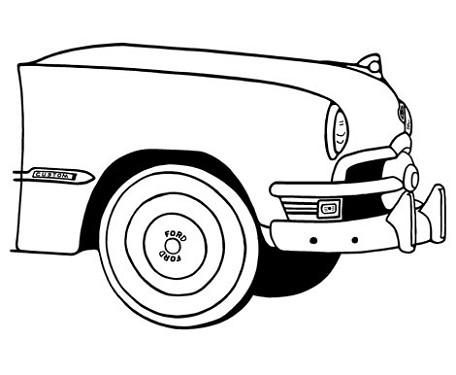 1932 Ford Car Drawings