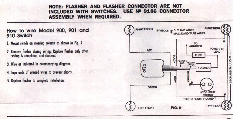 early ford v 8 club forum rh earlyfordv8 org Signal Stat 900 Wiring Diagram 900 Sigflare Wiring-Diagram