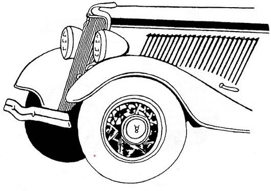 1934 Ford Passenger Car  V8 grille emblem